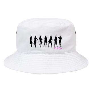 Honey Bunny シルエット(文字入り) Bucket Hat