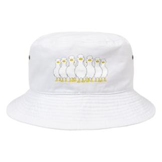 押し寄せる アヒル Bucket Hat