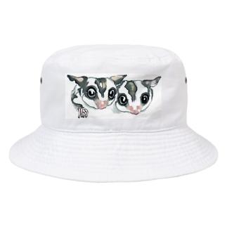 仲良しフクロモモンガ Bucket Hat