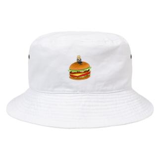 大きなハンバーガー Bucket Hat