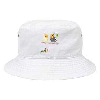 どノーマルオカメインコとルチノーちょいわき Bucket Hat
