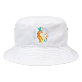 ペンギンTeaTime(グレー) Bucket Hat