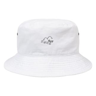 山と川と稲 Bucket Hat