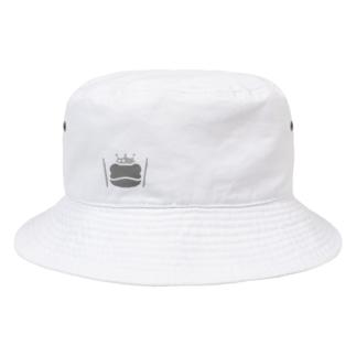 カエルとドラム ロゴ3 Bucket Hat