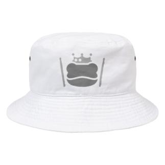SABUROのカエルとドラム ロゴ3 Bucket Hat