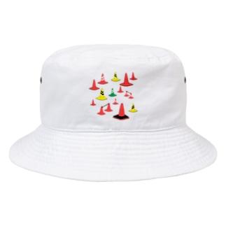 もりもり三角コーン Bucket Hat
