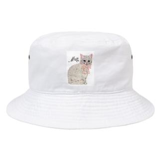 mignonne ミニョンヌのミニョンヌさんちのにゃんこ Bucket Hat