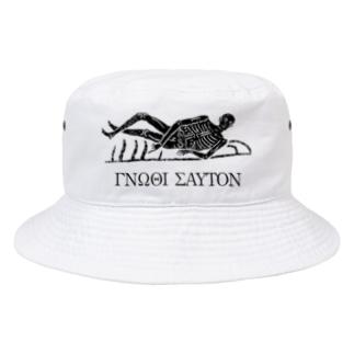 metao dzn【メタをデザイン】の汝自身を知れ #3 bk Bucket Hat