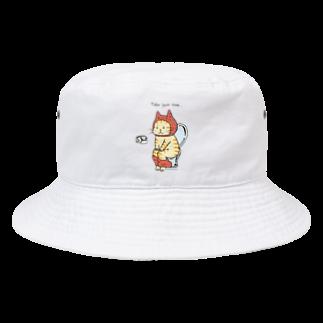 ほっかむねこ屋のトイレねこ オレンジ Bucket Hat