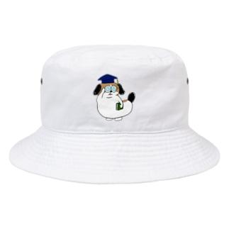 もじゃまる博士 Bucket Hat