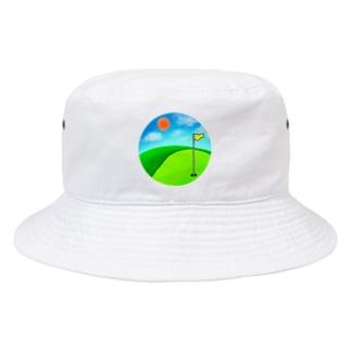 晴れのゴルフ場(修正版) Bucket Hat