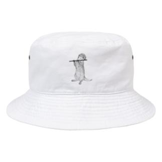 アイリッシュフルートを吹くカワウソ Bucket Hat