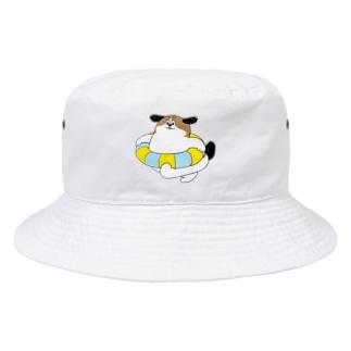 もじゃまるうきわ Bucket Hat