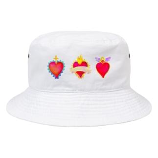 れなしやのメキシコのハートモチーフ♥️ Bucket Hat