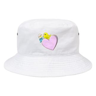 仲良しインコ Bucket Hat