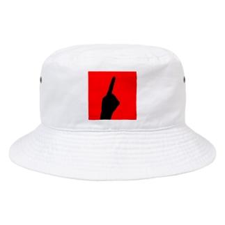 QB🦖のワンハンド・レッド Bucket Hat