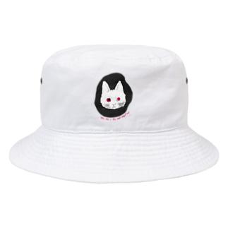 mya-mya=MIYA JUNKO's shop 02のodd-eyed cat Bucket Hat