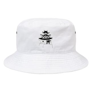 歴史デザイン「お城」 Bucket Hat