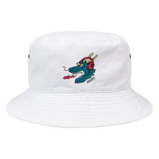 ヘッドホン・ドラゴン Bucket Hat