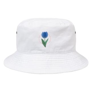 あおいチューリップ Bucket Hat