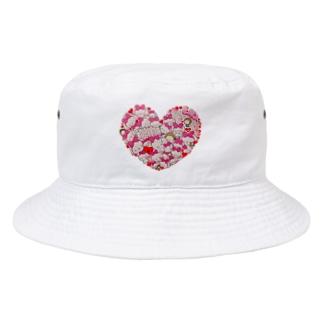 Ella Heart Bucket Hat