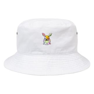 rabbit☆色違いあり (うさぎ) Full of vitality (フル オブ バイタリティ) Bucket Hat