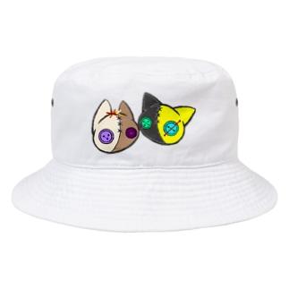 【つむぎはぎシリーズ】トラとウマ Bucket Hat