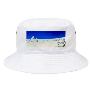 蔵王の樹氷とうろ覚えキツネ Bucket Hat