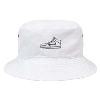 落書き風スニーカー Bucket Hat
