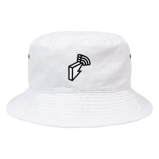 block.fmオフィシャルモノトーンロゴグッズ Bucket Hat