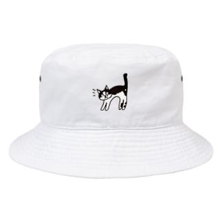 ハチワレ ※白ベタあり Bucket Hat