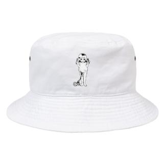 ソシ美@想像妊娠モノクロver. Bucket Hat