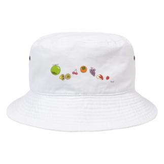 くだもの-ぞろぞろ Bucket Hat