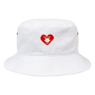 we love cat Bucket Hat