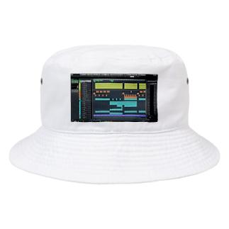 DAWプリント トコナツサーキット Bucket Hat