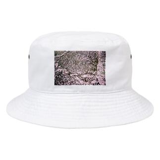卒業式の桜の花びら Bucket Hat