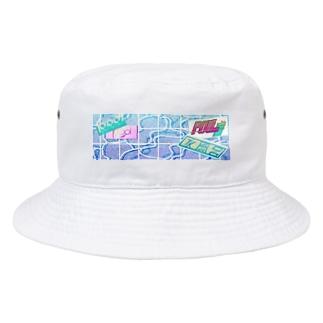 #p001_POOL ロゴ集合 Bucket Hat