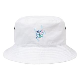 スノーケルするイルカ♪ Bucket Hat