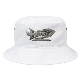 HEROバリアフリープロレスのバリアフリープロレスHERO3Dロゴ Bucket Hat