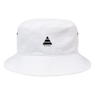 """""""You are here."""" Bucket Hat"""