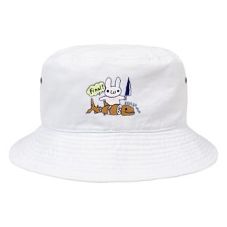 えそをさばくうさぎ Bucket Hat