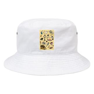 気ままに創作 よろず堂の純喫茶 いろどり 背景つき Bucket Hat