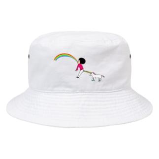 花くまゆうさくのユニコーン虹の出し方2 Bucket Hat