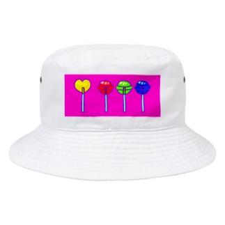 色と光のロリポップ Bucket Hat