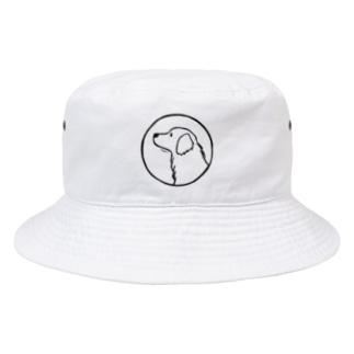 ゴールデン・レトリーバー〈線・円〉 Bucket Hat