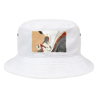 奇妙ネコ 浮世絵 Bucket Hat