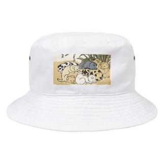 かなりかわいい犬たち 浮世絵 Bucket Hat
