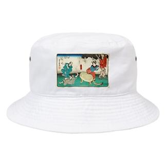 豆みたいな生き物おったまげ 浮世絵 Bucket Hat