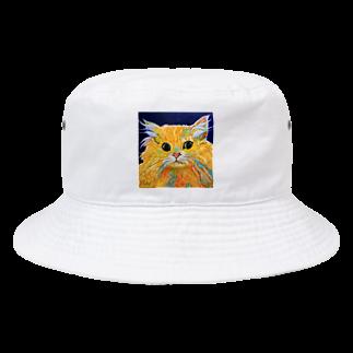 Ange Fleur (アンジュフルール)のOrange Calcite Cat(オレンジ カルサイト キャット) Bucket Hat