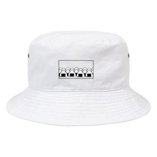 おにぎりの大群(枠あり) Bucket Hat